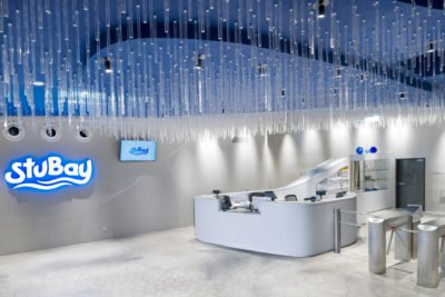 Eingangsbereich im StuBay – Lichttechnik von Elektro Schiller